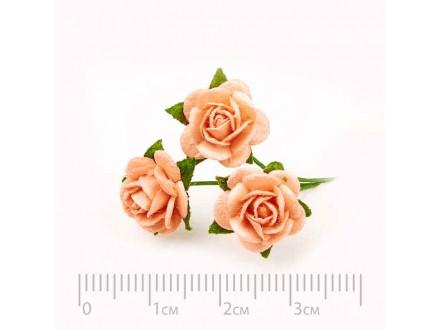 Розы бумажные № 11 персик