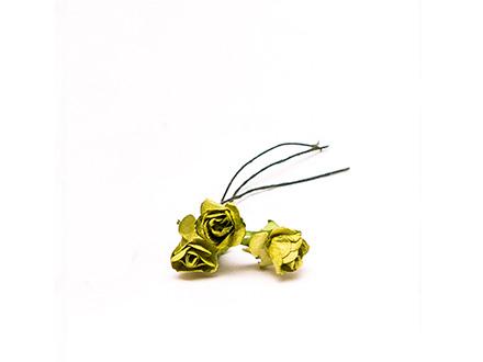 Розы бумажные №6 зеленые