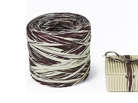Веревка рафия бело-черная
