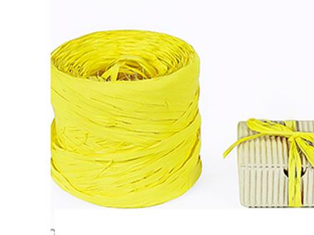 Веревка рафия желтая