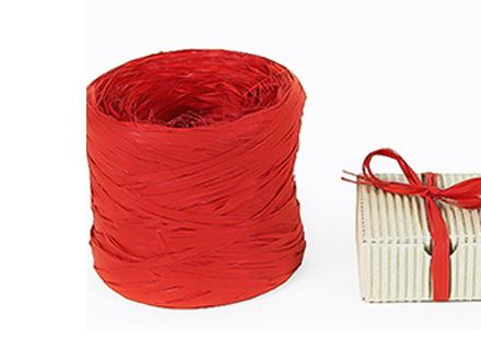 Веревка рафия красная