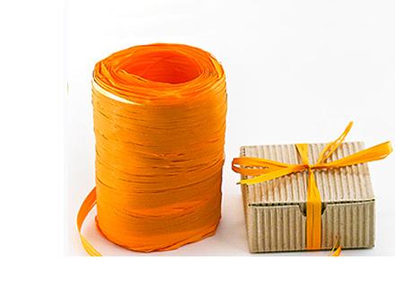 Веревка рафия оранжевая